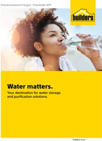 Builders : Water Matters (27 Aug - 10 Nov 2019)