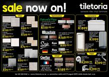 Tiletoria Western Cape (08 Aug - 31 Aug 2019 While Stocks Last)