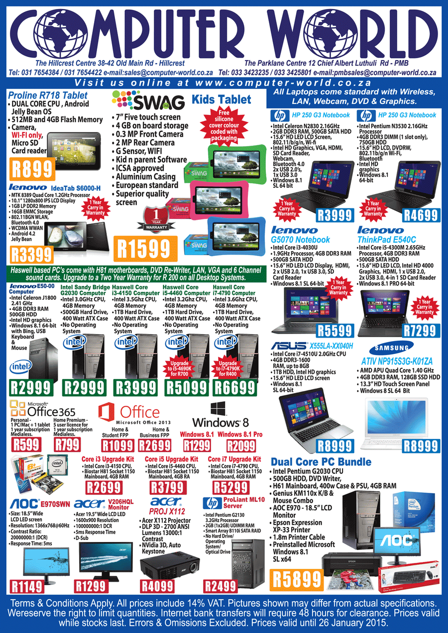 Computer World ( 20 Jan - 26 Jan 2015 ) — m guzzle co za