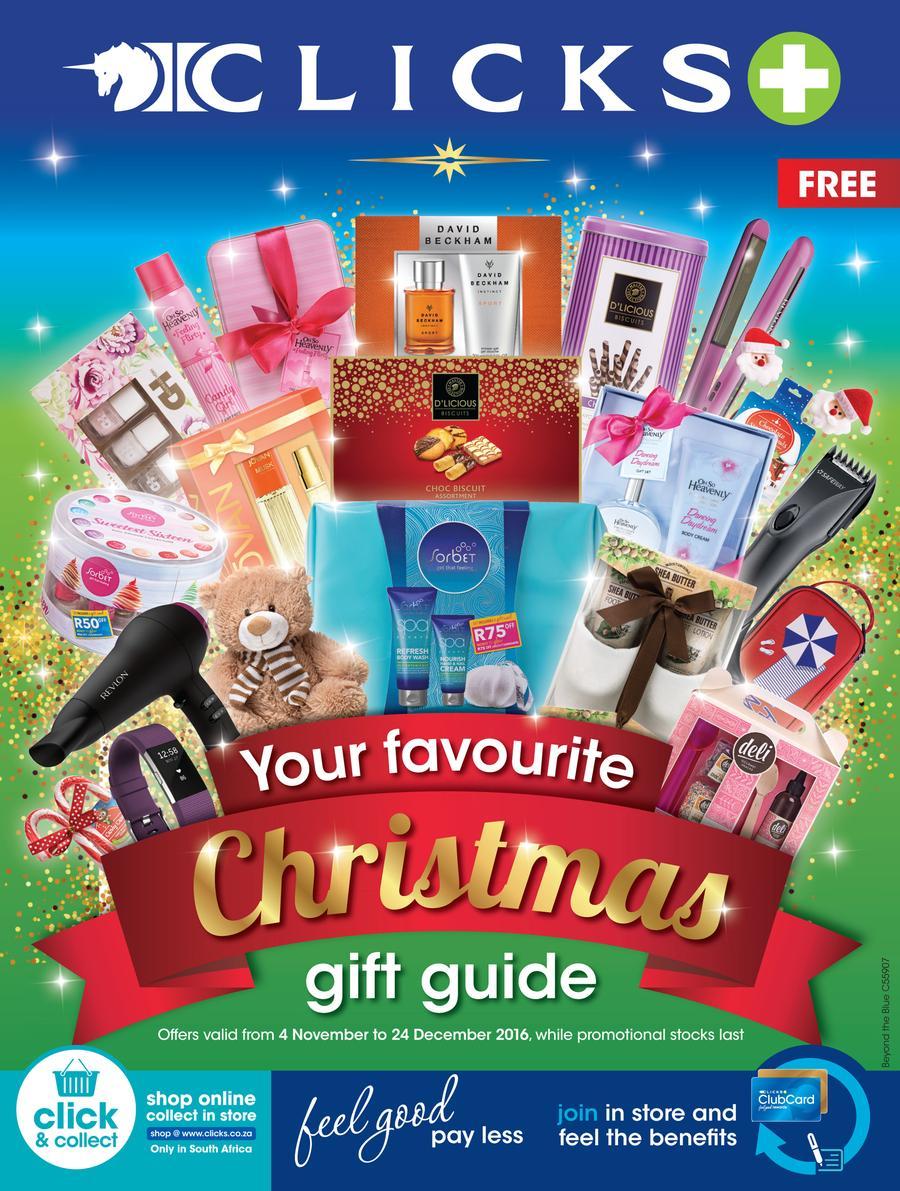 Christmas Gift Guide Catalogue.Clicks Your Favourite Christmas Gift Guide 4 Nov 24 Dec