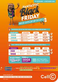 Cell C : Black Friday (27 November - 06 December 2020)