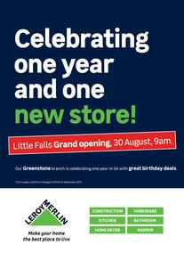 Leroy Merlin : Little Falls Grand Opening (30 Aug - 24 Sept 2019)