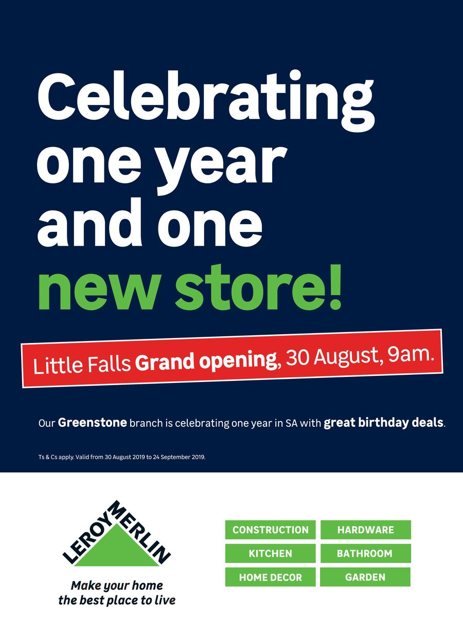 Leroy Merlin Little Falls Grand Opening 30 Aug 24 Sept
