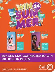 Cell C : Summer (11 Nov - 30 Nov 2019)