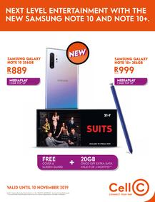 Cell C (01 Oct - 10 Nov 2019)