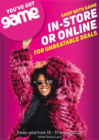 Game : Unbeatable Deals (19 August - 31 August 2020)