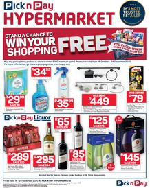 Pick n Pay Hyper : Win Your Shopping (16 November - 29 November  2020)