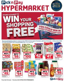 Pick n Pay Hyper : Win Your Shopping (19 October - 01 November 2020)