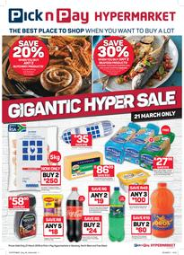 Pick n Pay Hyper Inland : Gigantic Sale (21 Mar 2019 Only!)