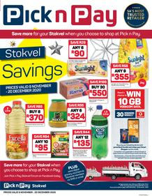 Pick n Pay Hyper Western Cape : Stokvel Savings (09 November - 20 December 2020)