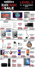 Hirsch's : Black Friday Sale Level 2 (24 November - 29 November 2020)