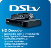 DSTV HD Decoder Excludes Installation