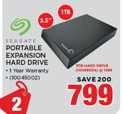 "Seagate 2.5"" 1TB Portable Expansion Hard Drive"