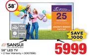 "Sansui 58"" Full HD LED TV"