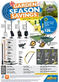 Mica : Garden Season Savings (18 September - 25 October 2020)
