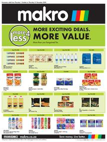 Makro : More4Less Deals (01 October - 31 December 2020)