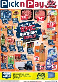 Pick n Pay Eastern Cape : Epic Birthdat Deals This Weekend (09 July - 12 July 2020)