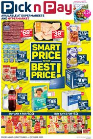 Pick n Pay Eastern Cape : Smart Price Is Our Best Price (28 September - 04 October 2020)