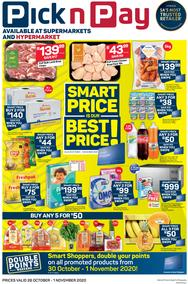 Pick n Pay Eastern Cape : Smart Price Is Our Best Price (26 October - 01 November 2020)