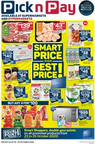 Pick n Pay  Gauteng, Free State, North West, Mpumalanga, Limpopo and Northern Cape : Smart Price Is Our Best Price (19 October - 25 October 2020)
