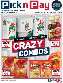 Pick n Pay : Combo Crazy (11 August - 23 August 2020)