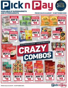Pick n Pay : Combo Crazy (24 August - 13 September 2020)