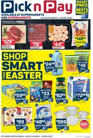 Pick n Pay  Gauteng, Free State, North West, Mpumalanga, Limpopo and Northern Cape : Smart Price Is Our Best Price! (23 March - 05 April 2021)
