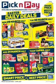 Pick n Pay Gauteng, Free State, North West, Mpumalanga, Limpopo, Northern Cape : Weekly Catalogue (29 March - 01 April 2021)