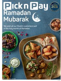 Pick n Pay Gauteng, Free State, North West, Mpumalanga, Limpopo, Northern Cape : Ramadan Mubarak (19 April - 02 May 2021)