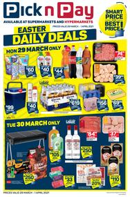 Pick n Pay  Gauteng, Free State, North West, Mpumalanga, Limpopo and Northern Cape : Easter Daily Deals (29 March - 01 April 2021)