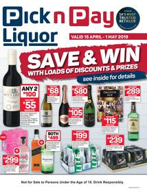 Pick n Pay Liquor : Save And Win (15 Apr - 1 May 2019)