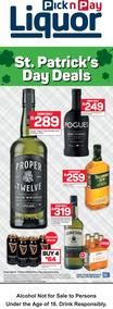 Pick n Pay : ST. Patrick's Day Deals (12 March - 17 March 2020)