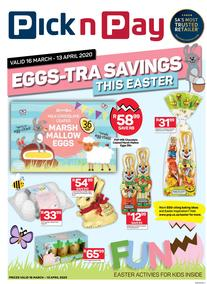 Pick n Pay : Eggs-Tra Savings This Easter (16 March - 13 April 2020)