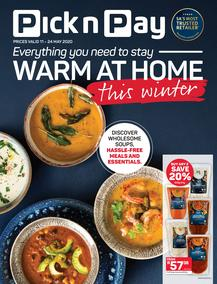 Pick n Pay : Everything You Need To Stay Warm At Home This Winter (11 May - 24 May 2020)