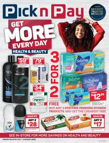 Pick n Pay Health, Beauty & Baby (20 July - 2 August 2020)
