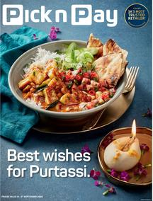 Pick n Pay  Gauteng, Free State, North West, Mpumalanga, Limpopo and Northern Cape : Celebrate Purtassi  (14 September - 27 September 2020)