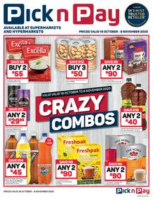 Pick n Pay : Crazy Combo (19 October - 08 November 2020)