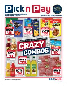 Pick n Pay Hyper : Crazy Combos (09 November - 20 November 2020)