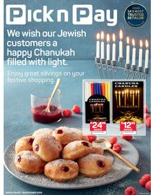 Pick n Pay : Celebrate Chanukah (01 December - 18 December 2020)