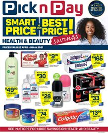 Pick n Pay : Health & Beauty Savings (23 April - 09 May 2021)