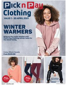 Pick n Pay : Clothing (01 April - 30 April 2021)