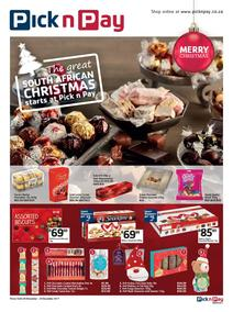 Pick n Pay : The Great South African Christmas Starts (28 Nov - 24 Dec 2017), page 1