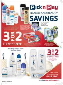 Pick n Pay : Health And Beauty Savings (12 Dec - 24 Dec 2017), page 1