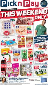 Pick n Pay Western Cape : This Weekend Only (04 Oct - 06 Oct 2019)