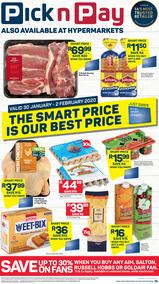 Pick n Pay Western Cape : This Weekend (30 Jan - 02 Feb 2020)