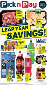 Pick n Pay Western Cape :  This Weekend! (27 February - 01 March 2020)