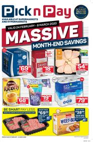 Pick n Pay Western Cape : Massive Month-End Savings (24 Feb - 08 Mar 2020)