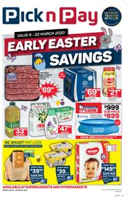 Pick n Pay Western Cape :  Early Easter Savings (09 March - 22 March 2020)