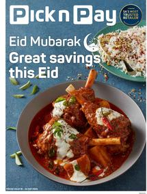 Pick n Pay Western Cape : Eid Mubarak (18 May - 24 May 2020)