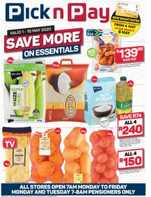 Pick n Pay Western Cape : Evens More Savings This Week (01 May - 10 May 2020)